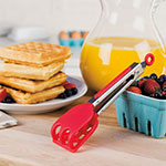 "Tovolo 81-9257 8.5"" Mini Waffle Tongs - BPA Free, Candy Apple Red"