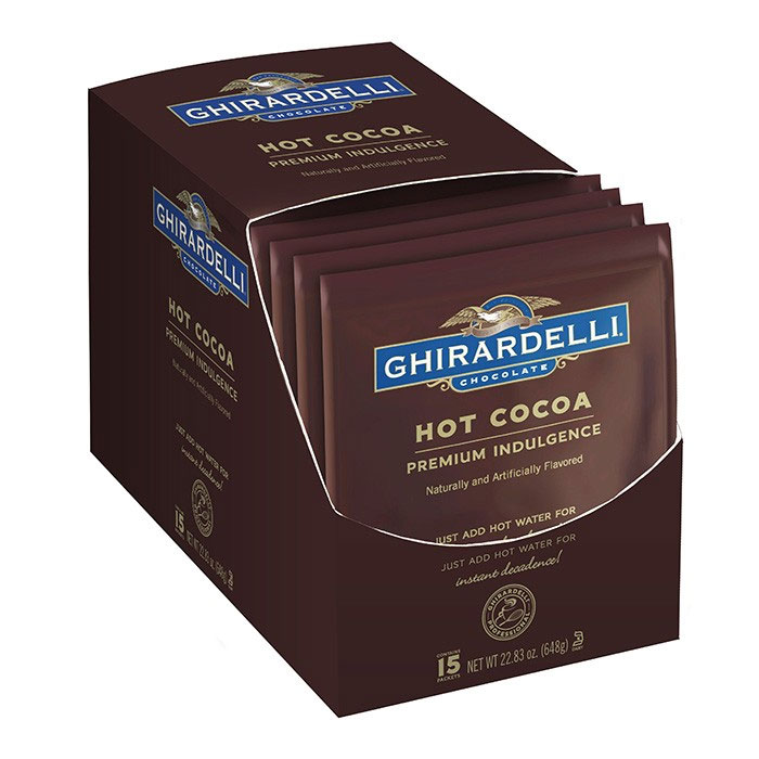 Ghirardelli 62083 1.5-oz Double Chocolate Premium Hot Cocoa Pouch