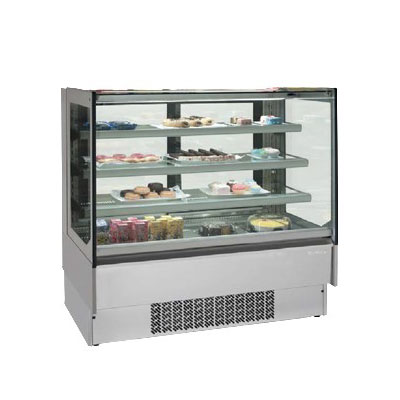 "Infrico IDC-VBR12FG 50.75"" Full-Service Bakery Case w/ Straight Glass - (4) Levels, 115v"