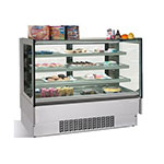 "Infrico IDC-VBR18FG 75.38"" Full-Service Bakery Case w/ Straight Glass - (4) Levels, 115v"