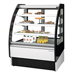 "Infrico IDC-VBR9R 38.5"" Full-Service Bakery Case w/ Curved Glass - (4) Levels, 115v"
