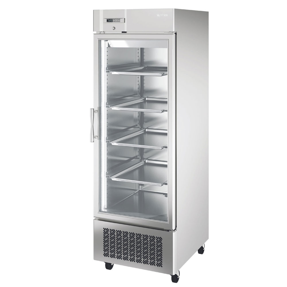 """Infrico IRR-AN23CR 27"""" Single Section Reach-In Refrigerator, (1) Glass Door, 115v"""