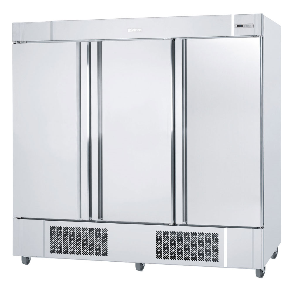 """Infrico IRR-AN67BT 82"""" Three-Section Reach-In Freezer, (3) Solid Doors, 115v"""
