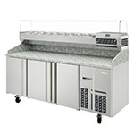 "Infrico IRT-MPG1980 78"" Pizza Prep Table w/ Refrigerated Base, 115v"