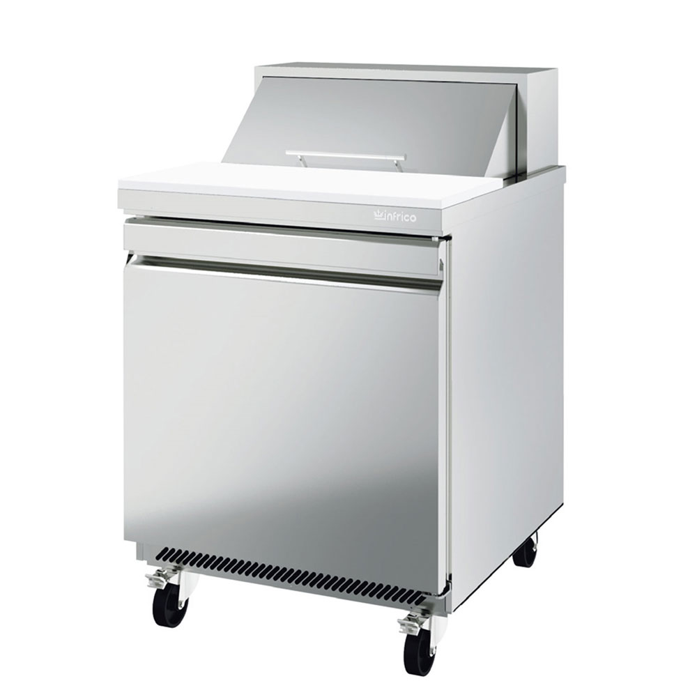 "Infrico IRT-UC27P 27.63"" Sandwich/Salad Prep Table w/ Refrigerated Base, 115v"