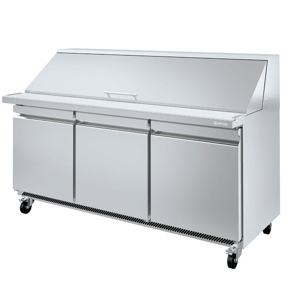 "Infrico IRT-UC72PMT 72.63"" Mega Top Sandwich/Salad Prep Table w/ Refrigerated Base, 115v"