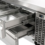 "Infrico IUC-MSG96 97"" Chef Base w/ (4) Drawers - 115v"