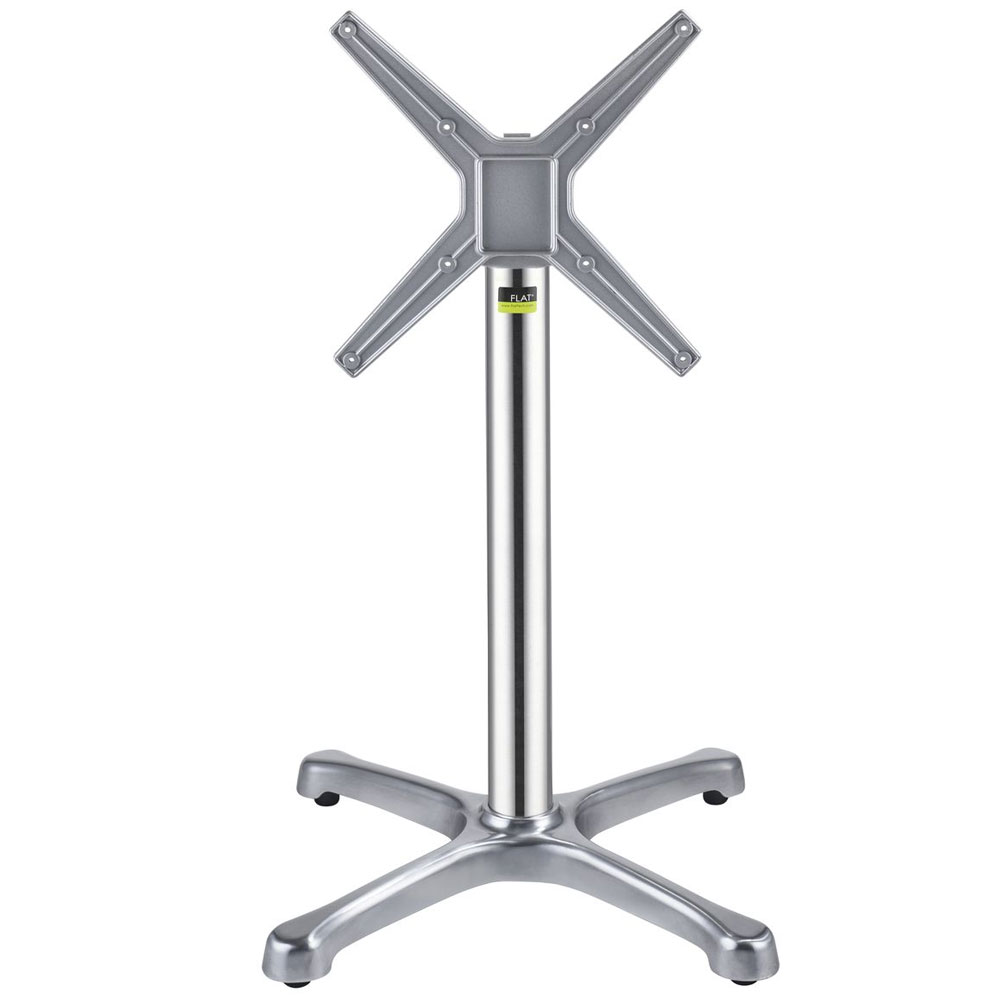 "Flat Tech CT1004 28.35"" Dining Height Table Base for 32"" Table Tops - Flip Top, Aluminum"