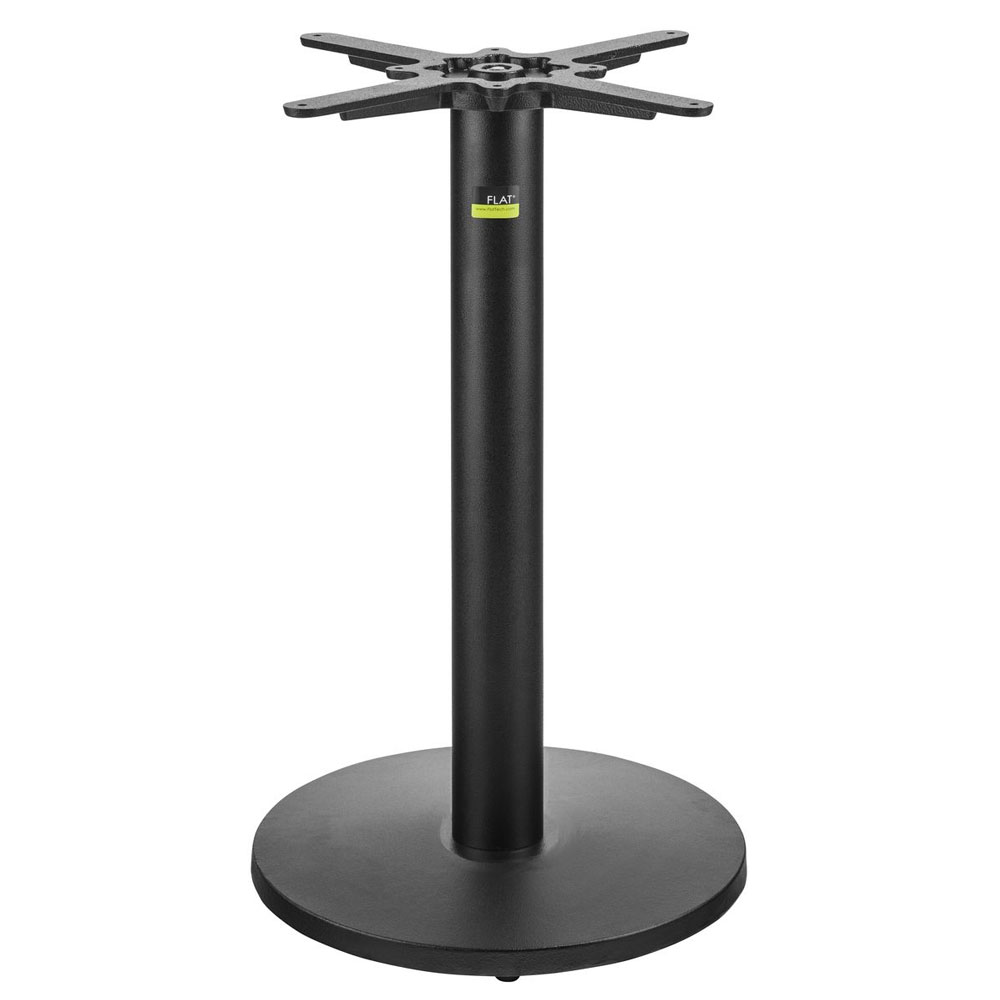 "Flat Tech CT3006 28.35"" Dining Height Table Base for 24"" Square & 26"" Round Table Tops, Cast Iron"