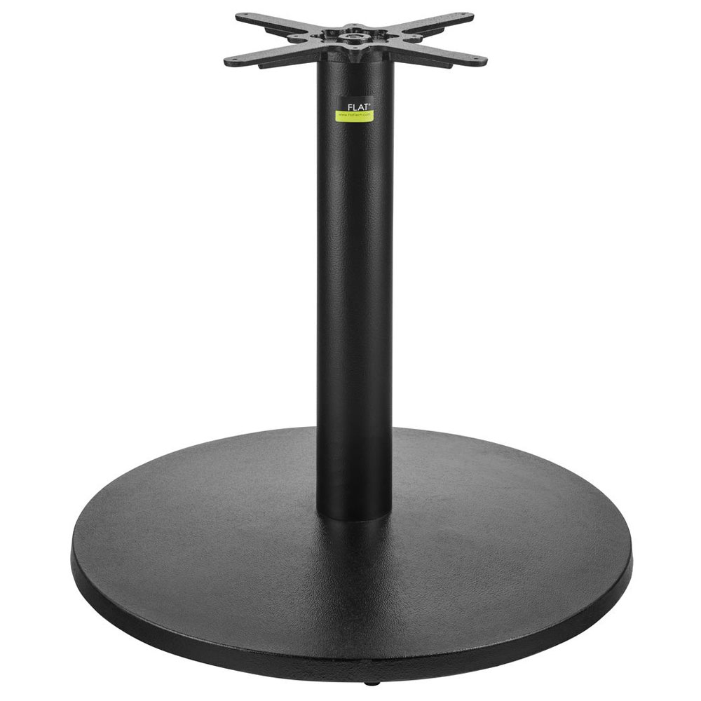 "Flat Tech CT3013 28.35"" Dining Height Table Base for 47"" Square & 60"" Round Table Tops, Cast Iron"