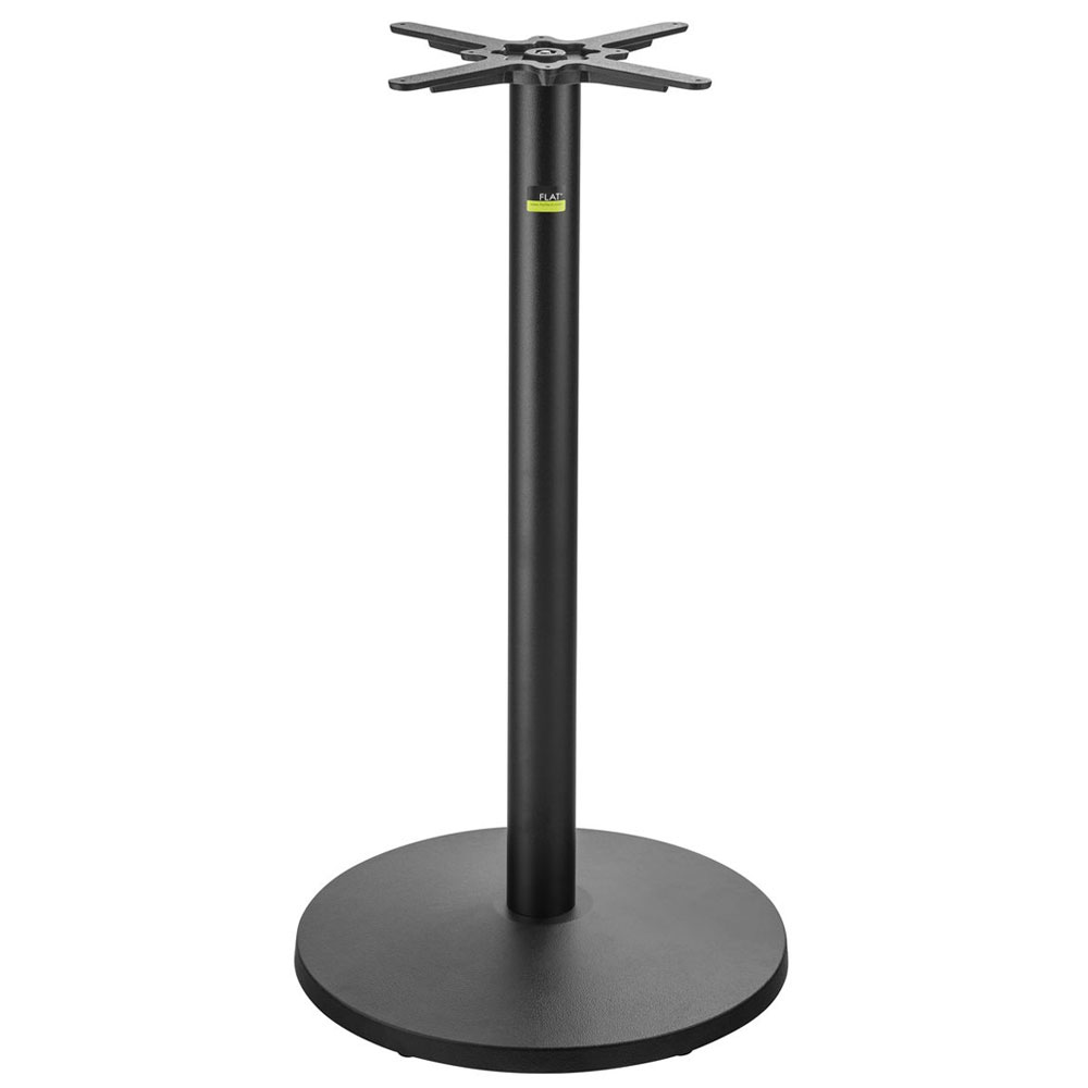 "Flat Tech CT3014 40.75"" Bar Height Table Base for 26"" Square & 30"" Round Table Tops, Cast Iron"