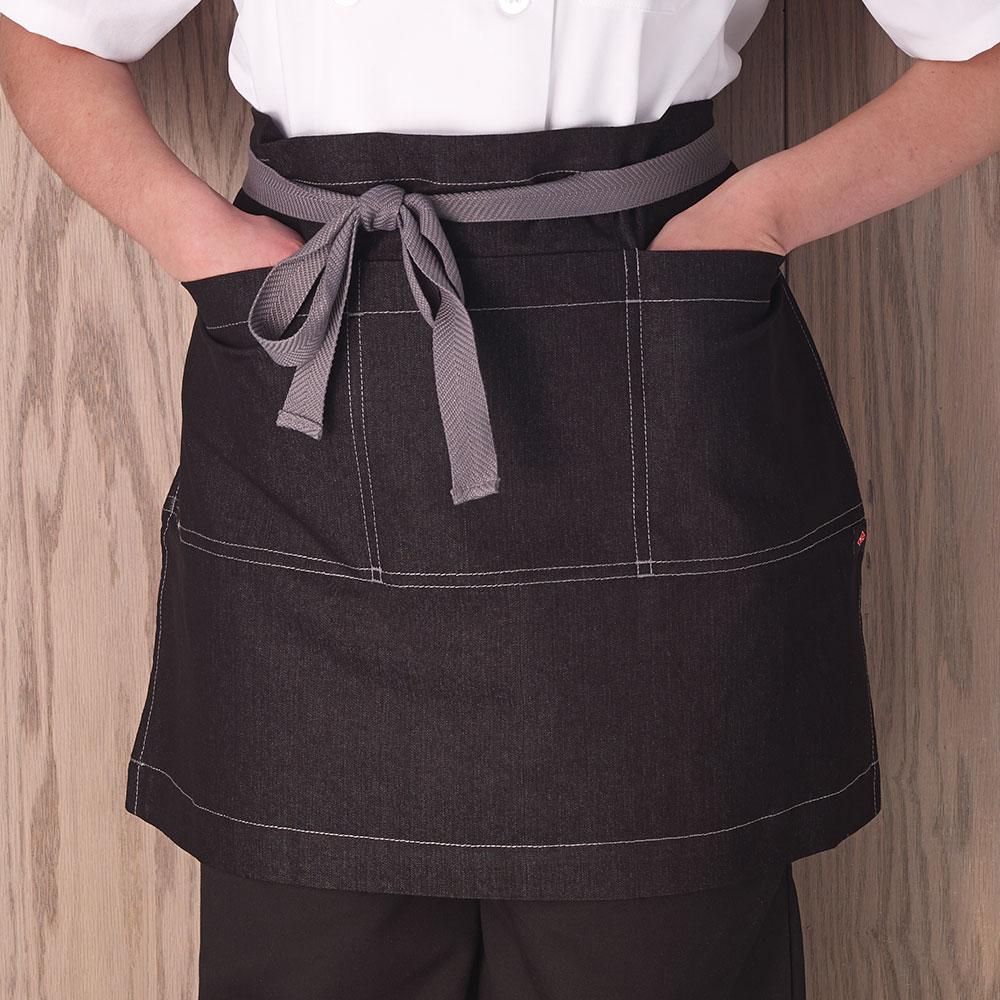 "Ritz CL3PWACELBKD-1 3-Pocket Waist Apron - 26"" x 18"", Polyester, Black"