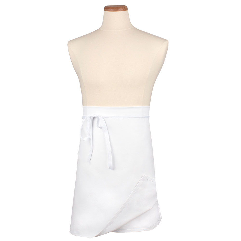 "Ritz CL4WAWH-1 Waist Apron - 32"" x 21.5"", Cotton/Poly, White"