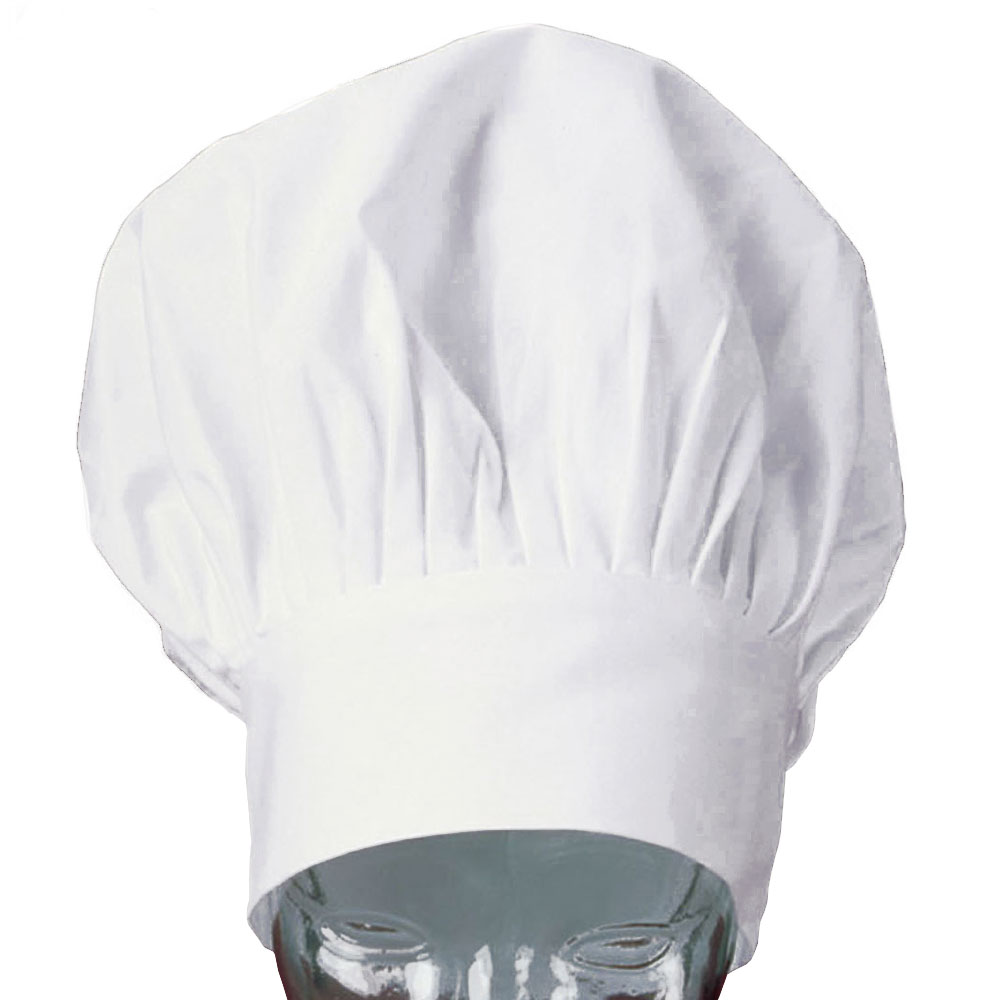 "Ritz CLCH3D-1 13"" Chef's Hat w/ Adjustable Closure - Poplin, White"