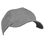 Ritz CLHTBBC-1 Chef's Baseball Cap - One Size Fits All, Black & White Houndstooth