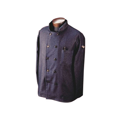Ritz RZDCOAT4X Chef's Coat w/ 3/4 Sleeves - Cotton/Spandex, Navy, 4X