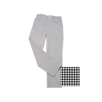 Ritz RZFC-PANTLG Chef's Pants w/ Elastic Waist - Poly/Cotton, Black/White Houndstooth, Large