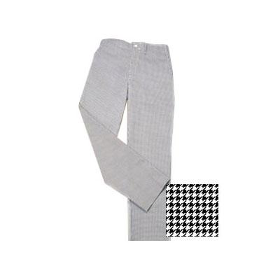 Ritz RZPANTHTMM Chef's Pants w/ Elastic Waist - Poly/Cotton, Black/White Houndstooth, Medium
