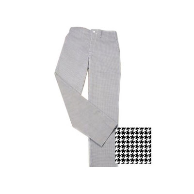 Ritz RZPANTHTSM Chef's Pants w/ Elastic Waist - Poly/Cotton, Black/White Houndstooth, Small