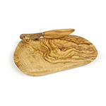 Berard BER12070 Olive Wood Butter Dish & Knife