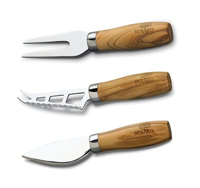 Berard BER21350 Olive Wood Cheese Knife Set