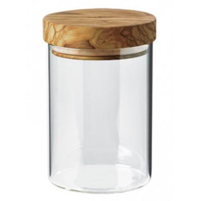 Berard BER35101 20-oz Glass Storage Jar w/ Olive Wood Lid