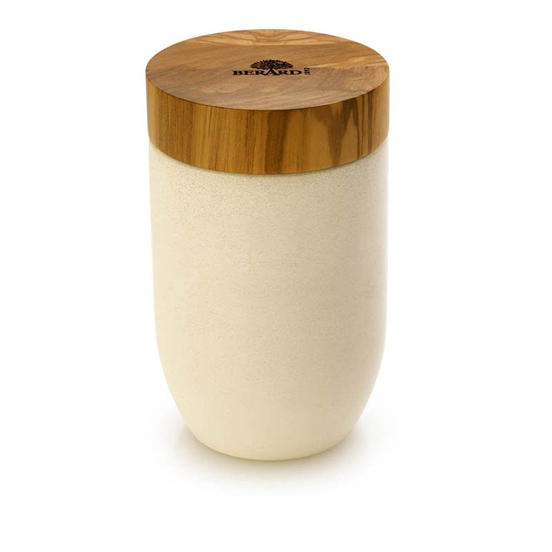 "Berard 41374 Salt & Pepper Mill w/ Olive Wood Lid, 3.9"" Tall"