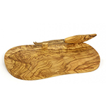 Berard BER56178 Olive Wood Cheese Board & Knife, 11x7""