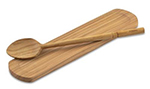 Berard BER59071 Olive Wood Spoon & Rest Set