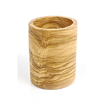 """Berard 88571 4.3"""" Round Olive Wood Utensils Canister"""