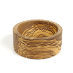 "Berard BER89770 3"" Round Olive Wood Pinch Bowl"