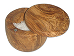Berard BER90070 8-oz Salt Keeper - Olive Wood