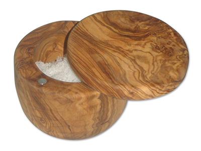 Berard BER90070 8-oz Salt Keeper - Olive Wood