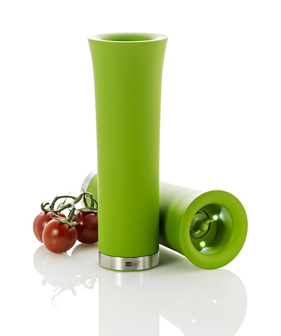 "Adhoc 78EP56 8"" Electric Pepper or Salt Mill, Milano, Green"