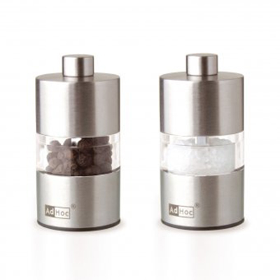 "Adhoc 78MP31 2.5"" Salt and Pepper Minimill Set, Acrylic and Stainless"