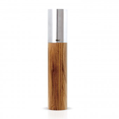 "Adhoc 78MP83 11.75"" Pepper Mill - Acacia Wood and Stainless"
