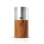 "Adhoc 78MP84 4"" Pepper Mill - Acacia Wood and Stainless"