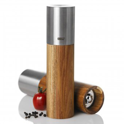 adhoc 78mp85 salt or pepper mill w ceramic grinder stainless. Black Bedroom Furniture Sets. Home Design Ideas