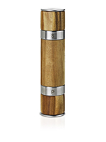 "Adhoc 78MP90 8.25"" Duo Salt/Pepper Mill - Acacia Wood, Stainless"