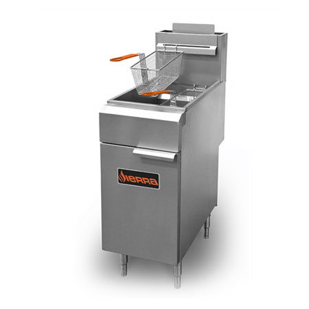 Sierra Range SRF-35/40 Gas Fryer - (1) 40-lb Vat, Floor Model, NG