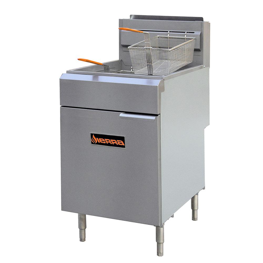 Sierra Range SRF-75/80 Gas Fryer - (1) 80-lb Vat, Floor Model, LP or NG