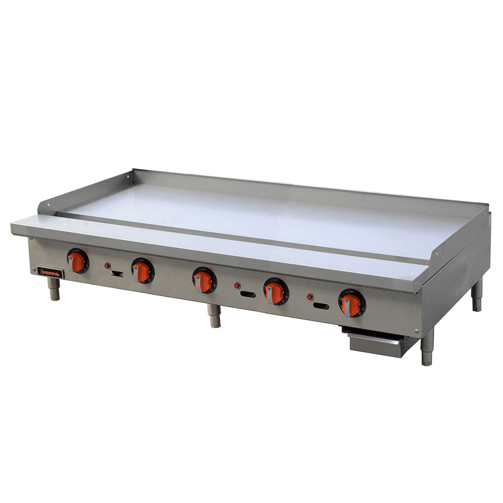 "Sierra Range SRTG-60 60"" Gas Griddle - Thermostatic, 1"" Steel Plate, NG"