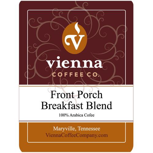 Vienna Coffee WFPBBW-12 12-oz Whole Bean Coffee, Front Po...