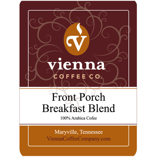 Vienna Coffee WFPBBW-12 12-oz Whole Bean Coffee, Front Porch Breakfast Blend