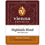 Vienna Coffee WHW-12 12-oz Whole Bean Coffee, Highlands Blend