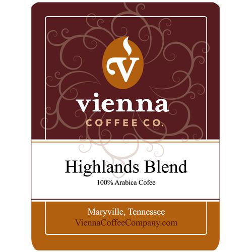 Vienna Coffee WHW-12 12-oz Whole Bean Coffee, Highlands Blend