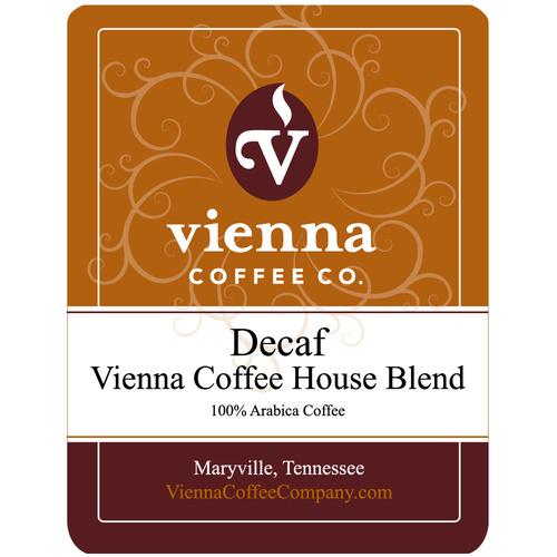 Vienna Coffee WVCHDG-12 12-oz Ground Decaf Coffee, Vienna Coffee House Blend