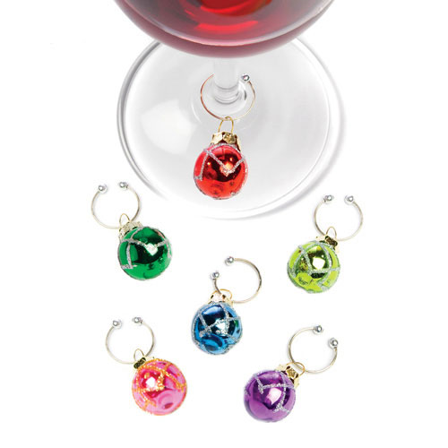 True Brands 0614 Vintage Ornament Wine Charms - Wire & Glass