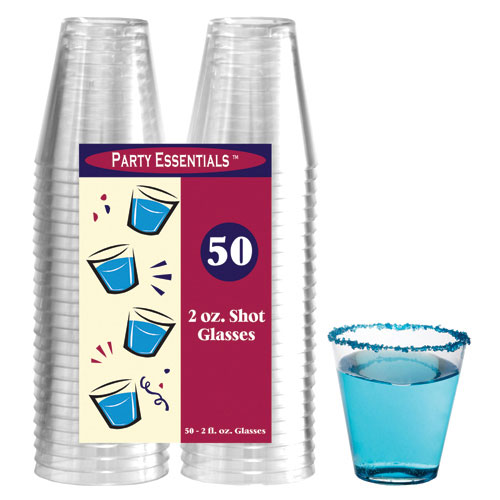 True Brands 1476 2-oz Shot Glasses, Plastic