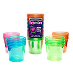 True Brands 1706 4-oz Neon Bomber Cups w/ 1-oz Inner Compartment, Plastic